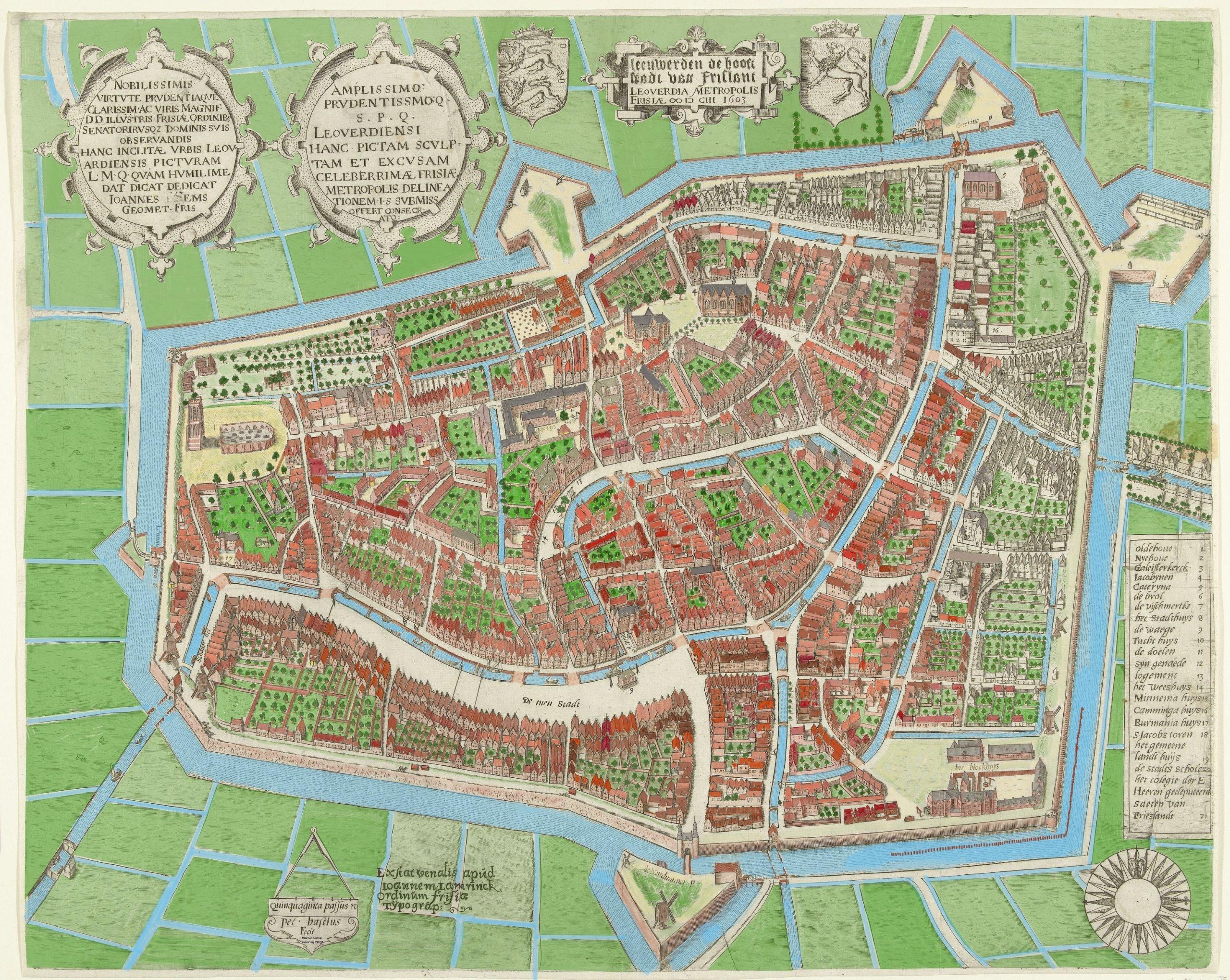 Leeuwarden, ingekleurd KLEIN-min