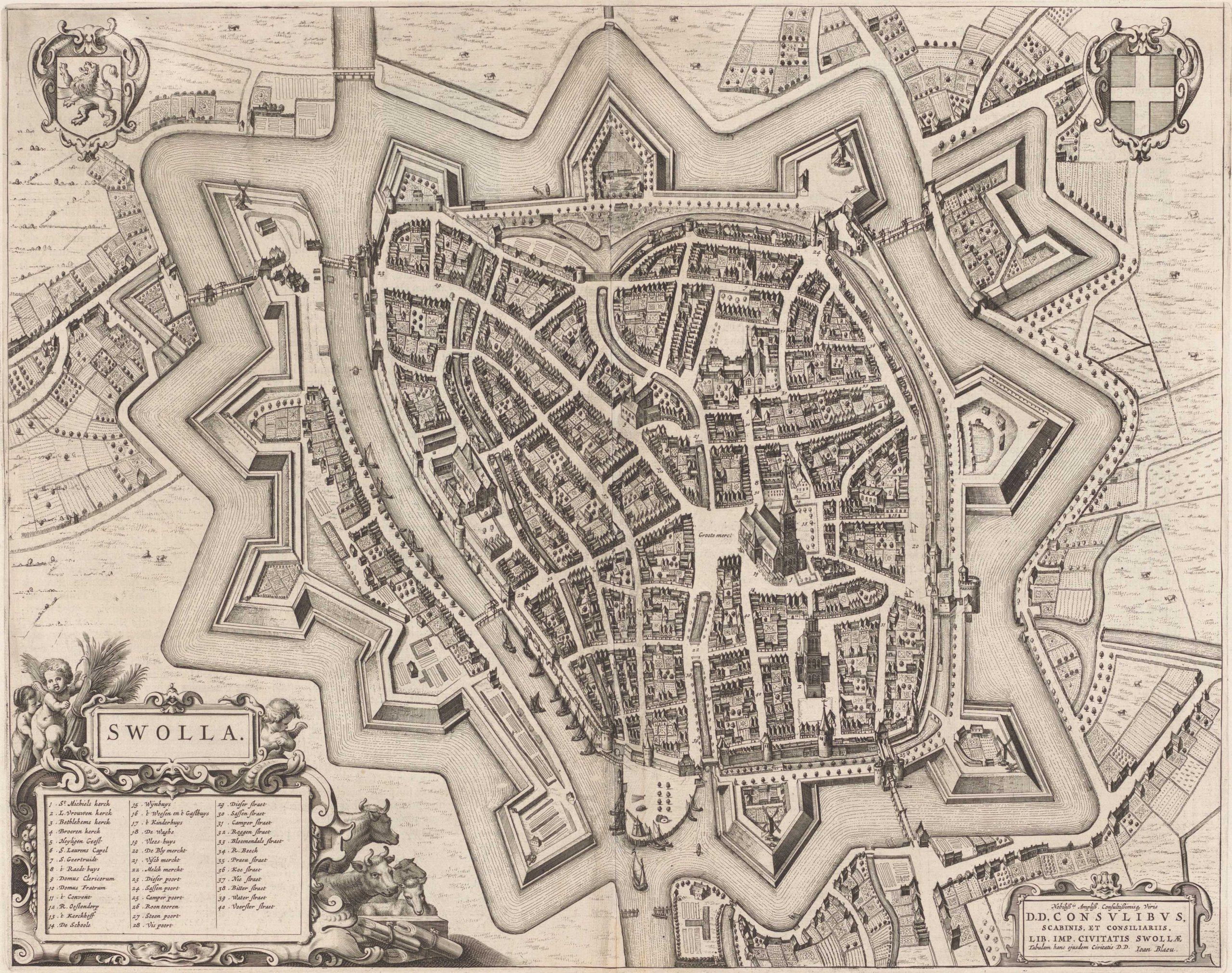 Zwolle, Joan Bleau origineelkopie